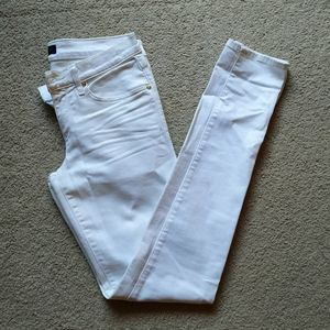 Juicy couture White skinny shimmer jeans